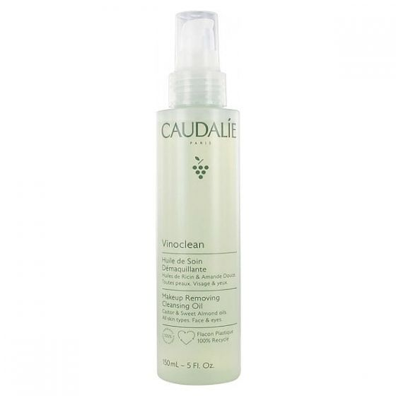 Caudalie Vinoclean Make-Up Removing Cleansing Oil Φυτικό Έλαιο Ντεμακιγιάζ & Καθαρισμού Προσώπου για Όλους τους Τύπους Επιδερμίδας, 150ml