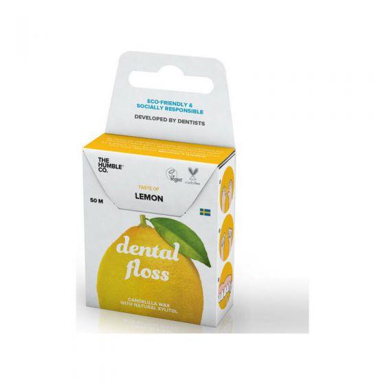 The Humble Co. Dental Floss Lemon Οδοντικό Νήμα Καθαρισμού Λεμόνι, 50m