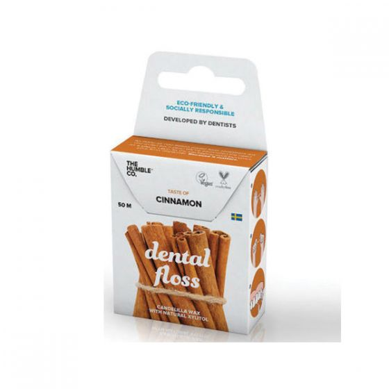 The Humble Co. Dental Floss Fresh Mint Οδοντικό Νήμα Καθαρισμού Κανέλλα 50 m