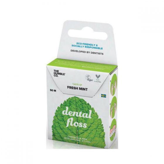 The Humble Co. Dental Floss Fresh Mint Οδοντικό Νήμα Καθαρισμού Μέντα, 50m